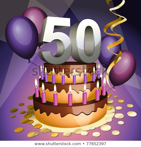 Fiftieth anniversary cake Stock photo © tilo