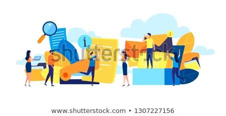 menedzser · szalag · illusztráció · rajz · aranyos · karakter - stock fotó © robuart