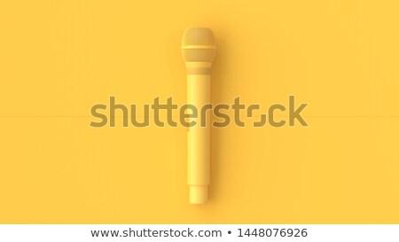 classic microphone 3d stock photo © djmilic
