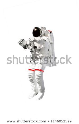 Astronauta biały ilustracja szczęśliwy dziecko student Zdjęcia stock © colematt