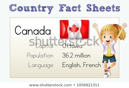 Flashcard with country fact for Cananda Stock photo © colematt