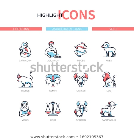 Space concept - line design style icons set Stock photo © Decorwithme