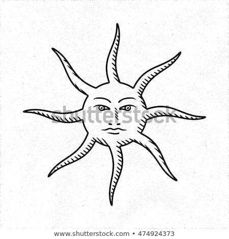 Sole umani faccia classico stile illustrazione Foto d'archivio © abdulsatarid