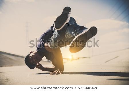 Chłopca pokaż biodra ilustracja mały inny Zdjęcia stock © lenm