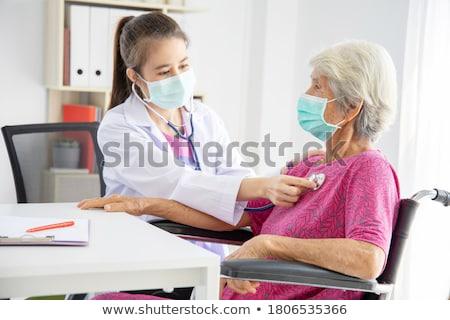 Médico vieja clínica ilustración mujer fondo Foto stock © colematt