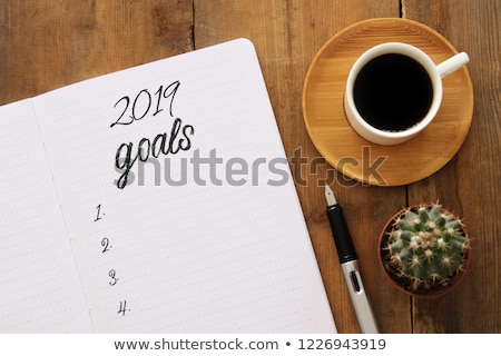Top view 2019 goals list Stock photo © neirfy