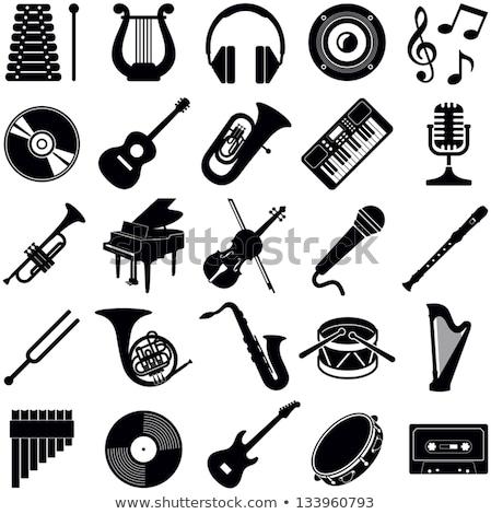 Music instrument with music note Stock photo © colematt