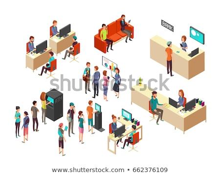 Vector servicio al cliente departamento interior utilizado Foto stock © tele52