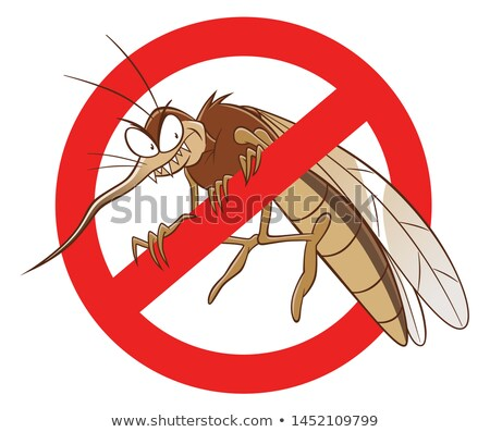 karikatür · öfkeli · sivrisinek · bakıyor · grafik - stok fotoğraf © cthoman