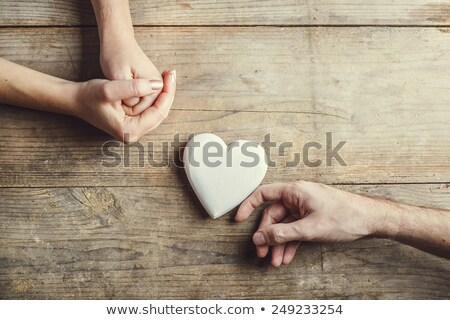 Woman and man with love sign as a heart Stock photo © Ustofre9
