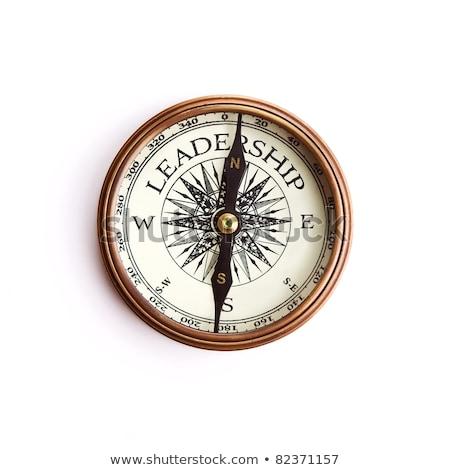 brújula · texto · primer · plano · pizarra · negocios - foto stock © make
