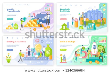 Investment in Physical Assets, Innovations Set Stock photo © robuart