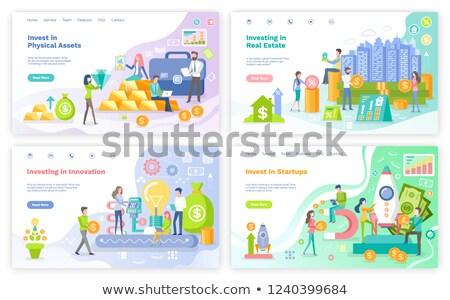 Beruházás tőke szett vektor ingatlan emberek Stock fotó © robuart