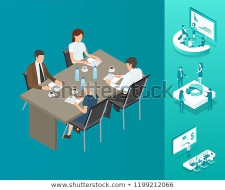 virtuale · riunione · folla · guardando · conferenza · business - foto d'archivio © robuart