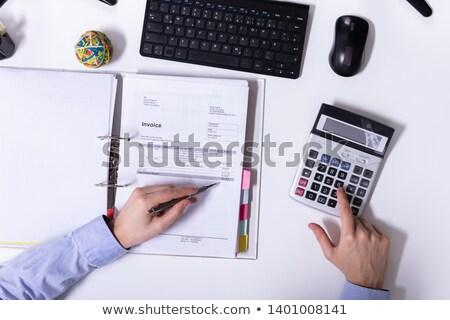 Affaires simulateur facture main bureau Photo stock © AndreyPopov