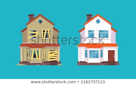 otthon · helyreállítás · grunge · pecsét · szöveg · terv - stock fotó © rastudio