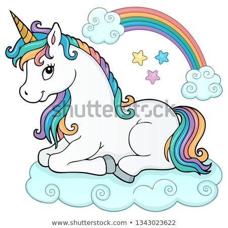 Stylized unicorn theme image 5 Stock photo © clairev