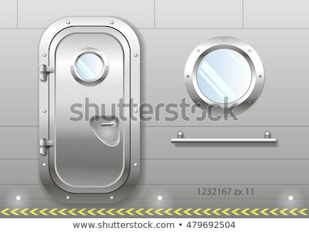 金属 · ウィンドウ · 青 · 長方形の · フレーム · デザイン - ストックフォト © studiostoks