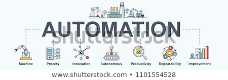 Robótico processo automação bandeira robô Foto stock © RAStudio