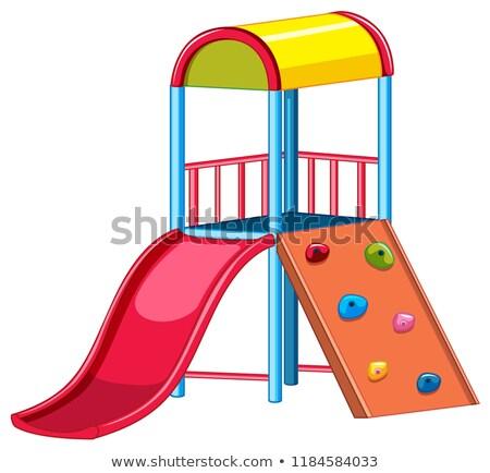 Speeltuin uitrusting slide rock kinderen sport Stockfoto © colematt