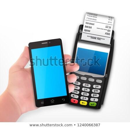 ワイヤレス 支払い スマートフォン クレジットカード アイコン 携帯 ストックフォト © Winner