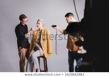 Photographer on studio fashion Stock photo © jossdiim