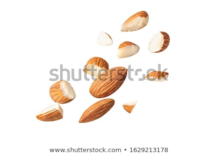 Stockfoto: Gehakt · amandelen · geheel · klein · stukken · voedsel
