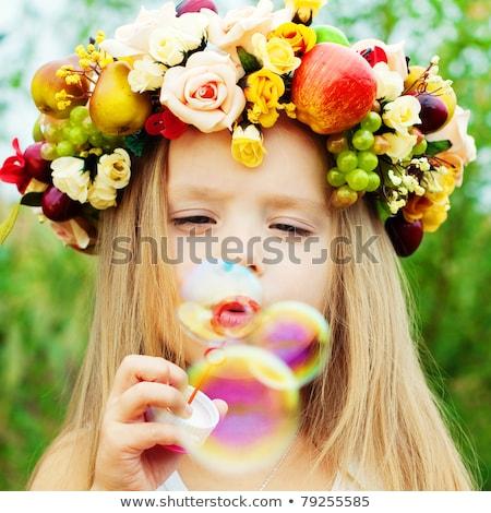 子供 · 少女 · 夏 · フィールド · ドレス - ストックフォト © ElenaBatkova