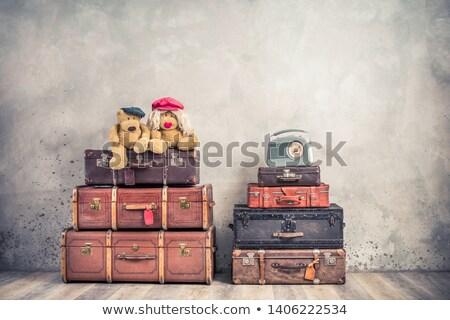Idő utazás pár poggyász repülőtér nő Stock fotó © robuart