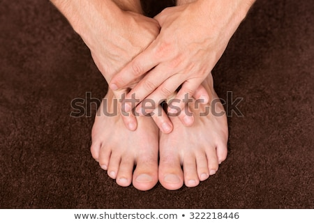 Man's Foot Over The Nail Stock photo © AndreyPopov