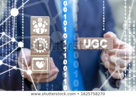 ユーザー 生成された コンテンツ オンラインマーケティング 3次元の図 虫眼鏡 ストックフォト © olivier_le_moal