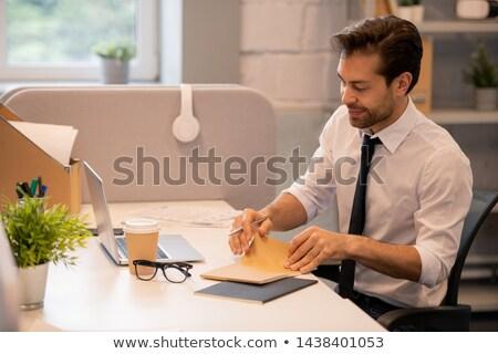 содержание человека открытие блокнот красивый молодые Сток-фото © pressmaster