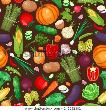 Doğal ürün biber havuç çizim vektör Stok fotoğraf © robuart