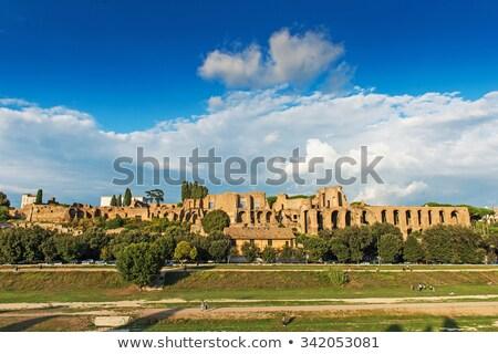 The Circus Maximus and ancient Rome landmarks panoramic view Stock photo © xbrchx