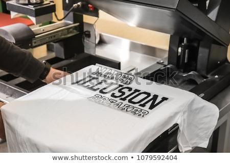 Impressão tshirt oficina homem imagem moda Foto stock © AndreyPopov