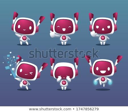Stockfoto: Cartoon · robots · ingesteld · illustraties · grappig