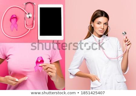 handen · roze · borstkanker · bewustzijn · lint - stockfoto © wavebreak_media