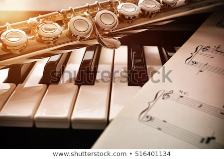 piano musical instrument. sheet music Stock photo © rogistok