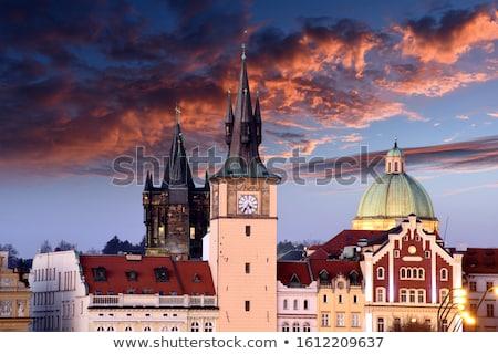 Kilise Prag erken barok köprü Çek Cumhuriyeti Stok fotoğraf © borisb17