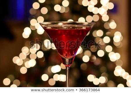 vörösáfonya · koktél · közelkép · izolált · fehér · szemüveg - stock fotó © furmanphoto