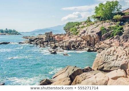 Kert kő népszerű turista célpontok Vietnam Stock fotó © galitskaya
