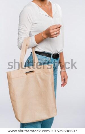 Jóvenes casual mujer blanco polo Foto stock © pressmaster