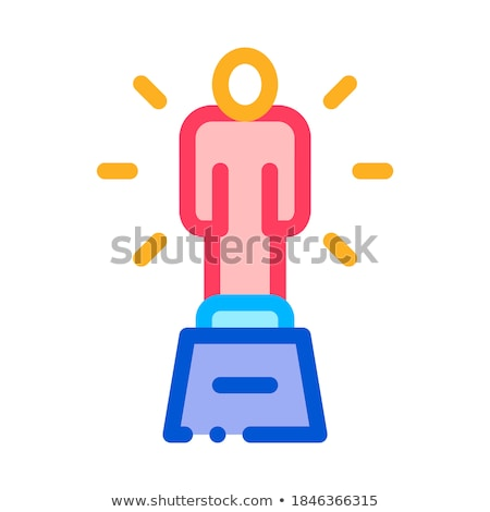 Stockfoto: Statuette Human Talent Icon Vector Illustration
