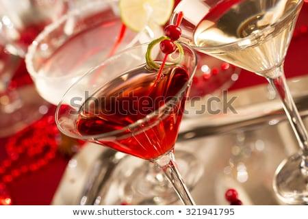 Kızılcık kokteyl Noel içmek yılbaşı Stok fotoğraf © furmanphoto