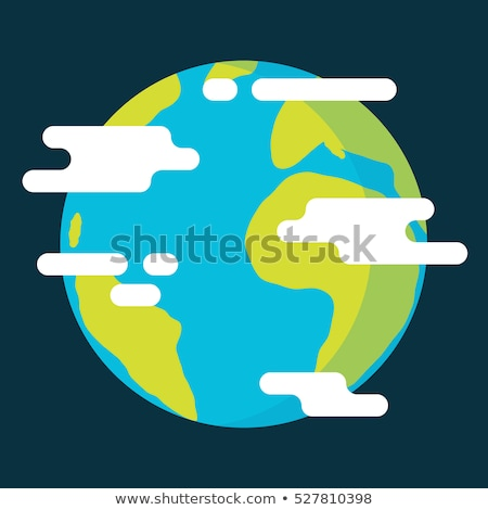 Planet globe flat color illustration Stock photo © barsrsind