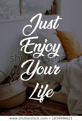 Celebrar vida mão tipografia moderno cartaz Foto stock © BlueLela