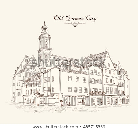 Historical house, Germany Stock photo © borisb17
