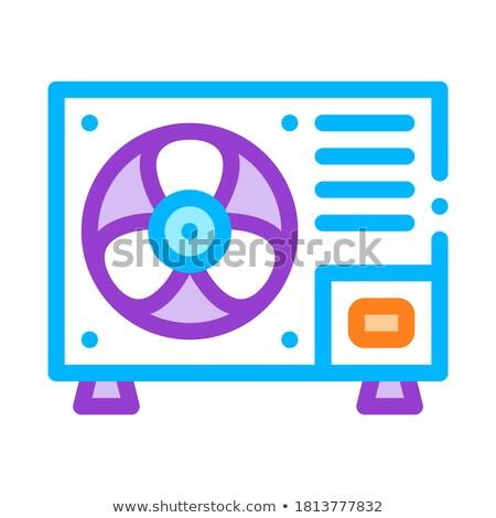 Fixo novo condicionador vetor fino linha Foto stock © pikepicture