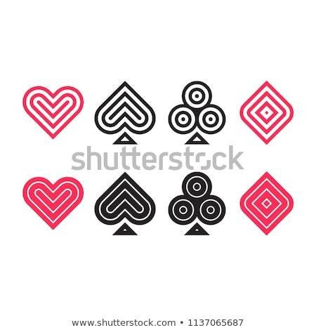 Card suit icon flat Stock photo © smoki