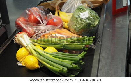 iceberg lettuce at grocery store or supermarket Stock photo © dolgachov